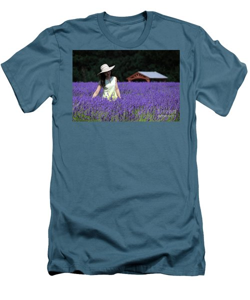 Lady In Lavender Men's T-Shirt (Athletic Fit)