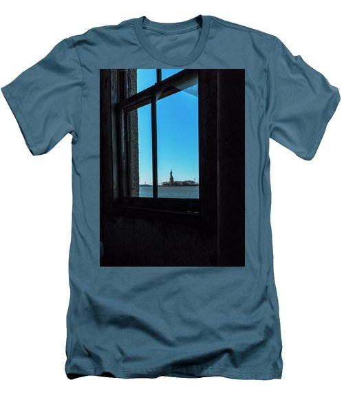 Lady Liberty Men's T-Shirt (Slim Fit) by Tom Singleton