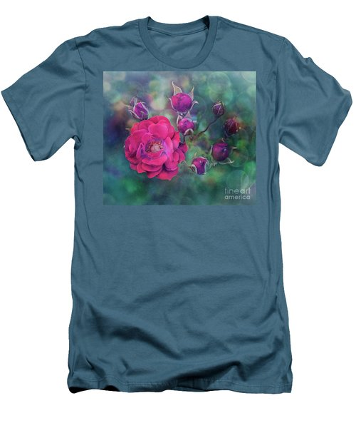 Lady Rose Men's T-Shirt (Slim Fit) by Agnieszka Mlicka