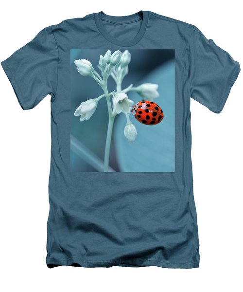 Men's T-Shirt (Slim Fit) featuring the photograph Ladybug by Mark Fuller