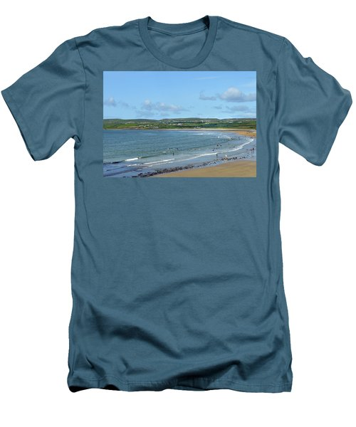 Men's T-Shirt (Slim Fit) featuring the photograph Lahinch Beach by Terence Davis