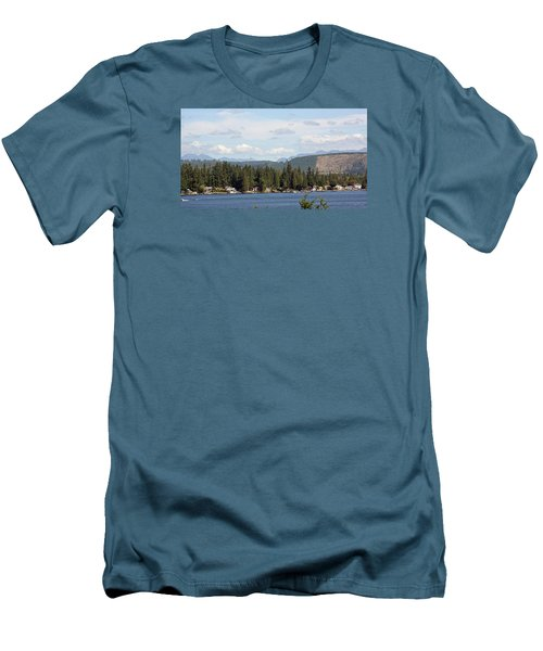 Lake And Mountains Men's T-Shirt (Athletic Fit)