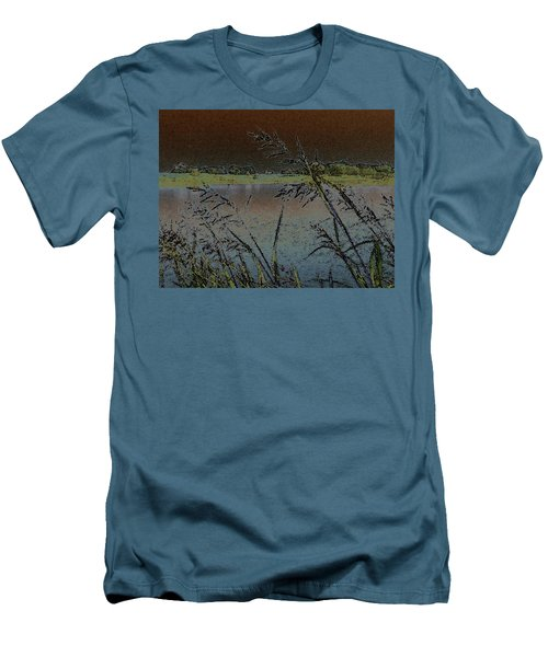 Lake  Men's T-Shirt (Slim Fit) by Donna G Smith