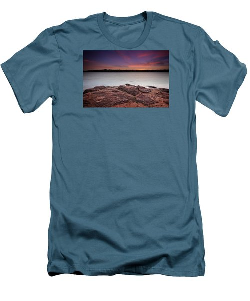 Lake Sunset Iv Men's T-Shirt (Slim Fit)