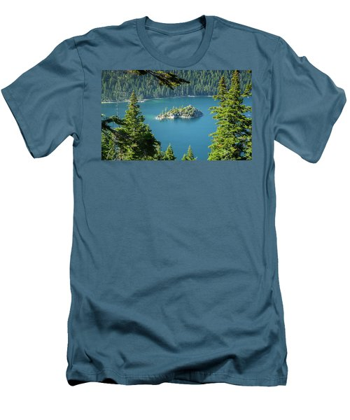 Men's T-Shirt (Slim Fit) featuring the photograph Lake Tahoe by RC Pics