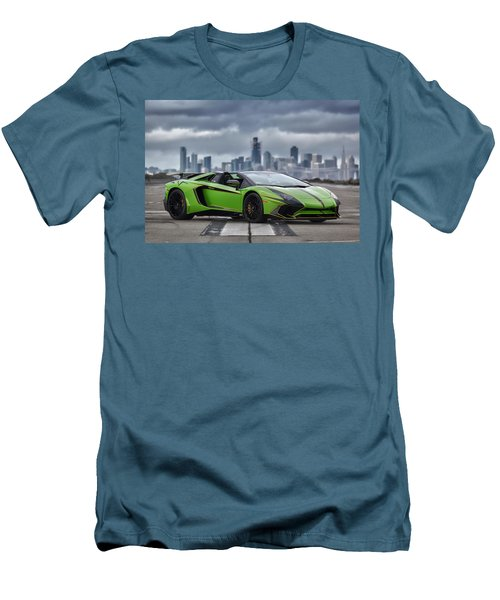 #lamborghini #aventadorsv #superveloce #roadster #print Men's T-Shirt (Athletic Fit)