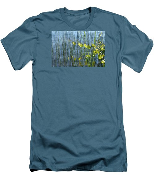 Men's T-Shirt (Slim Fit) featuring the photograph Land And Water Plants  by Lyle Crump