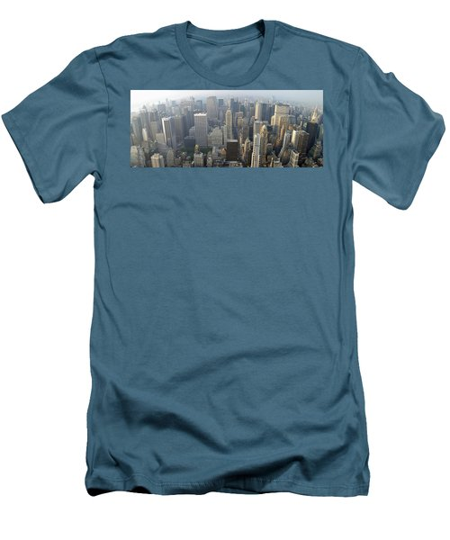 Land Of Skyscapers Men's T-Shirt (Slim Fit) by Aaron Martens