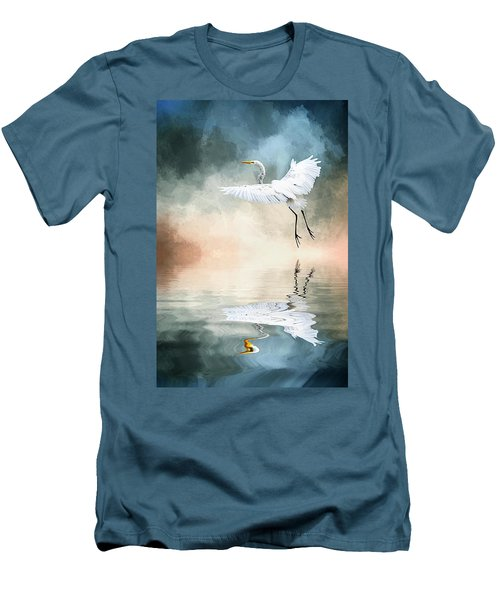 Landing At Dawn Men's T-Shirt (Slim Fit) by Cyndy Doty
