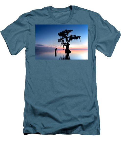 Men's T-Shirt (Slim Fit) featuring the photograph Landscape Backstage by Evgeny Vasenev