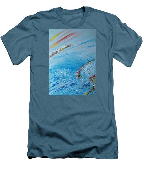 Northern Lights Men's T-Shirt (Athletic Fit)