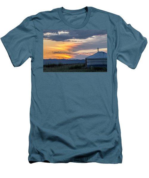 Men's T-Shirt (Slim Fit) featuring the photograph Last Golden Light, Elsen Tasarkhai, 2016 by Hitendra SINKAR