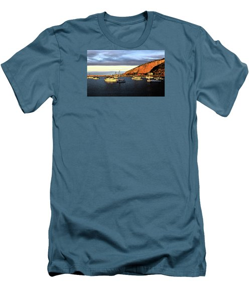 Men's T-Shirt (Athletic Fit) featuring the photograph Last Rays At The Bay by Nareeta Martin