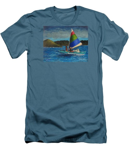 Last Sail Before The Storm Men's T-Shirt (Slim Fit) by Laurie Morgan