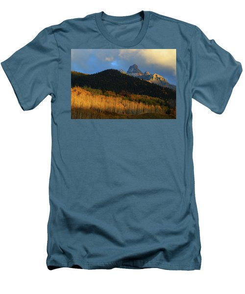 Men's T-Shirt (Slim Fit) featuring the photograph Late Afternoon Light On The San Juans by Jetson Nguyen