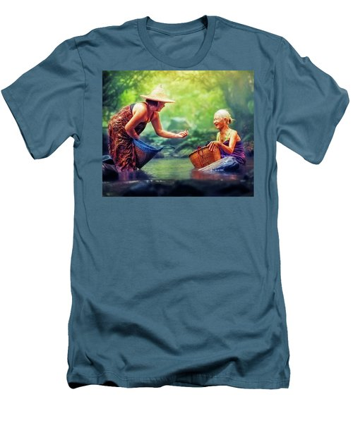 Men's T-Shirt (Athletic Fit) featuring the photograph Laughter by Bellesouth Studio