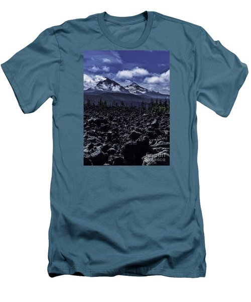 Lava Below The Sisters Men's T-Shirt (Slim Fit) by Nancy Marie Ricketts