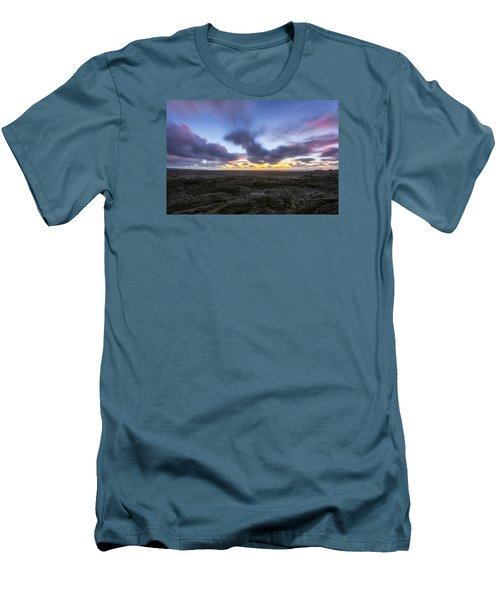 Men's T-Shirt (Slim Fit) featuring the photograph Lava Twilight by Ryan Manuel