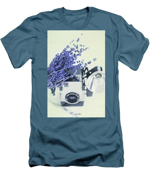 Lavender And Kodak Brownie Camera Men's T-Shirt (Athletic Fit)