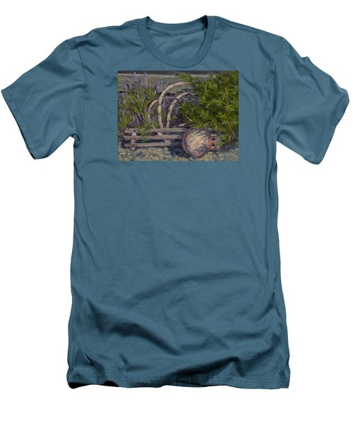 Lavender And Lobster Men's T-Shirt (Athletic Fit)