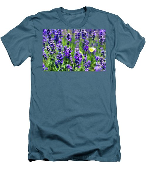 Men's T-Shirt (Slim Fit) featuring the photograph Lavender And The Heart by Ryan Manuel