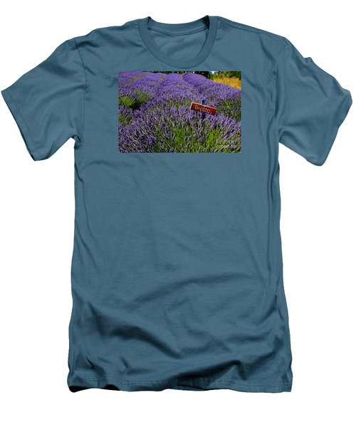 Lavender Bounty 2 Men's T-Shirt (Slim Fit) by Tanya  Searcy