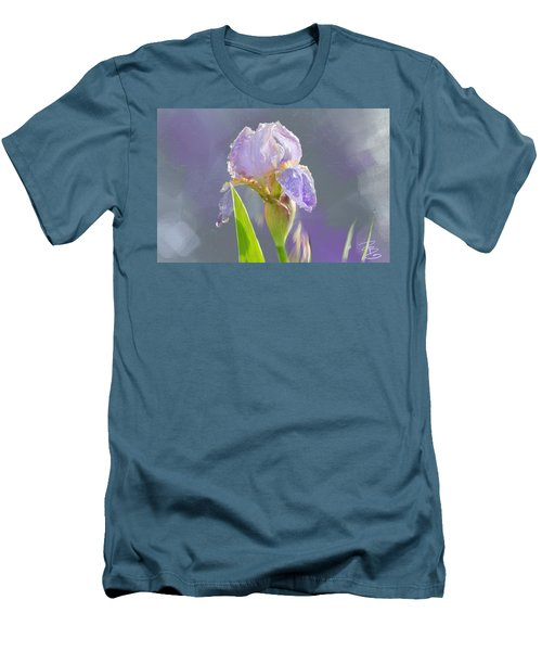 Lavender Iris In The Morning Sun Men's T-Shirt (Athletic Fit)