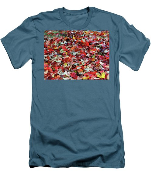 Leaf Pile Men's T-Shirt (Athletic Fit)