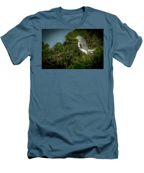 Men's T-Shirt (Slim Fit) featuring the photograph Leap Of Faith by Marvin Spates