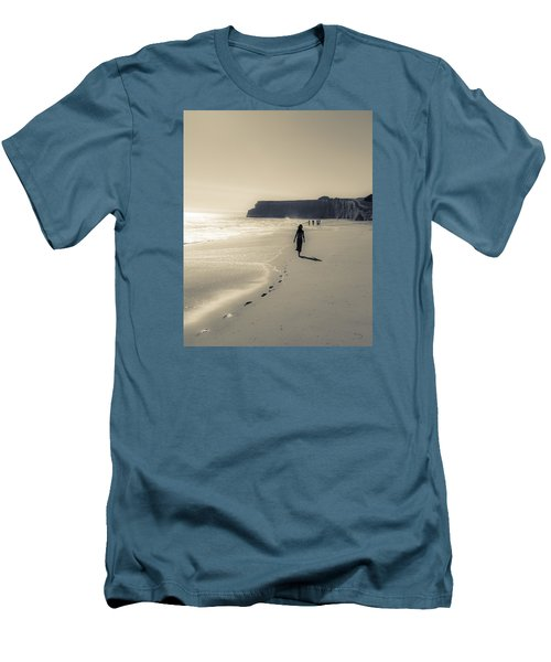 Leave Nothing But Footprints Men's T-Shirt (Athletic Fit)