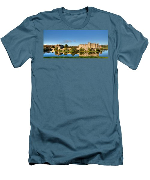 Leeds Castle And Moat Reflections Men's T-Shirt (Athletic Fit)