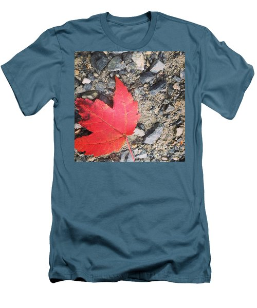 Left For Red Men's T-Shirt (Slim Fit) by Jason Nicholas