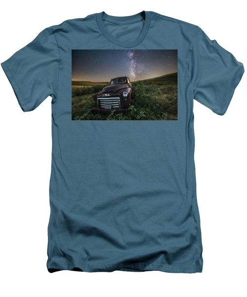 Men's T-Shirt (Slim Fit) featuring the photograph Left To Rust by Aaron J Groen