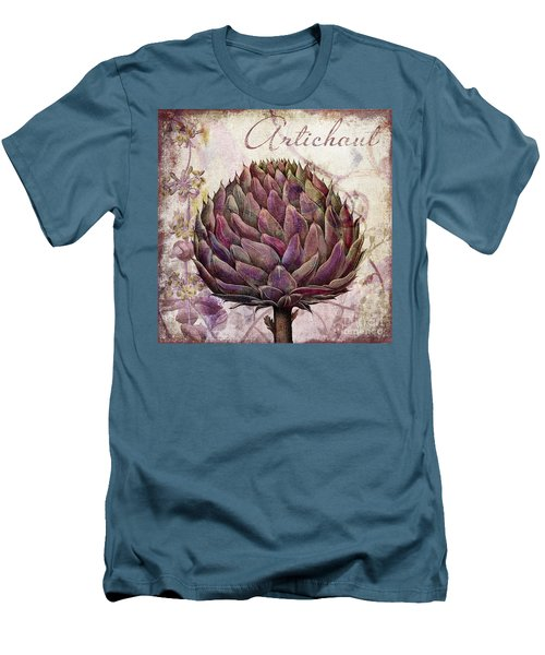 Legumes Francais Artichoke Men's T-Shirt (Slim Fit) by Mindy Sommers