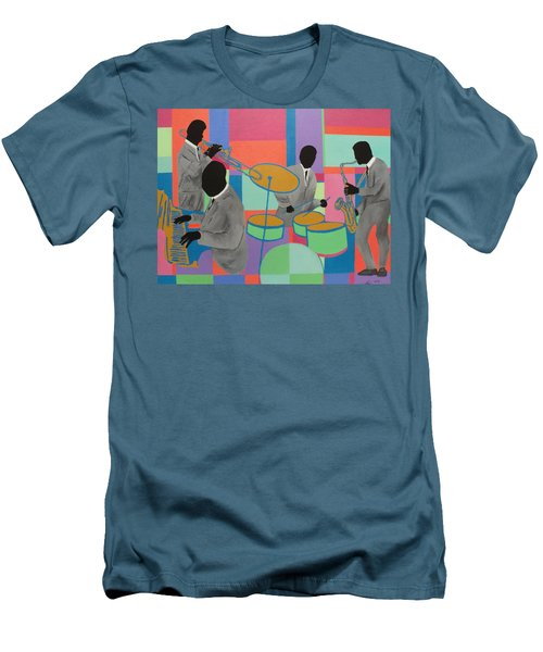 Let The Band Play Men's T-Shirt (Slim Fit) by Angelo Thomas