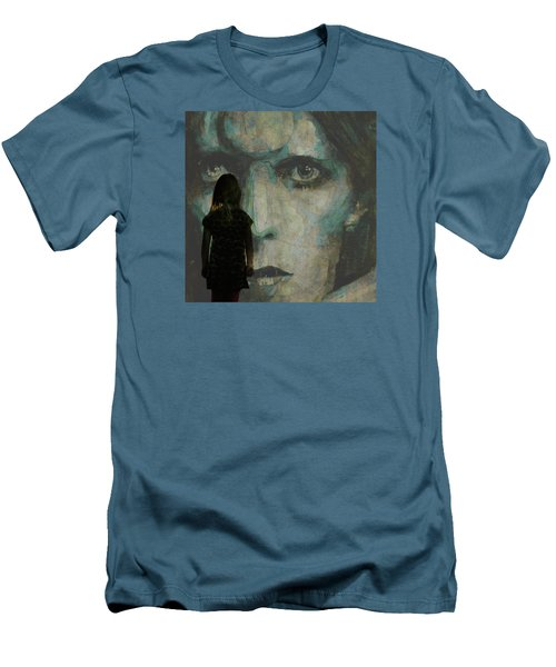 Men's T-Shirt (Slim Fit) featuring the painting Let The Children Lose It Let The Children Use It Let All The Children Boogie by Paul Lovering
