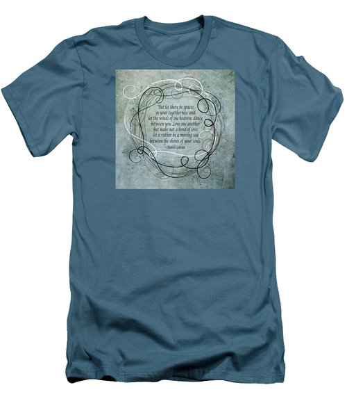 Let There Be Spaces Men's T-Shirt (Slim Fit) by Angelina Vick