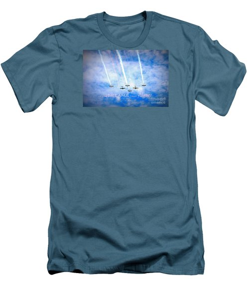 Let Your Dreams Take Flight Men's T-Shirt (Slim Fit) by Shelia Kempf