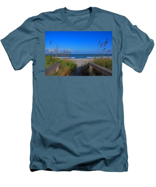 Lets Go To The Beach Men's T-Shirt (Athletic Fit)