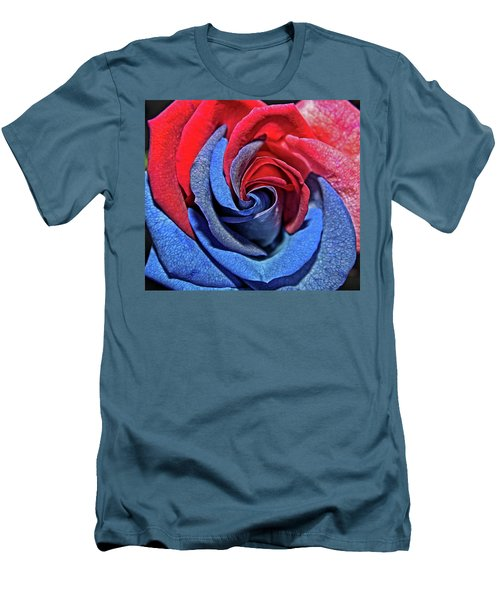 Men's T-Shirt (Slim Fit) featuring the photograph Liberty Rose by Judy Vincent