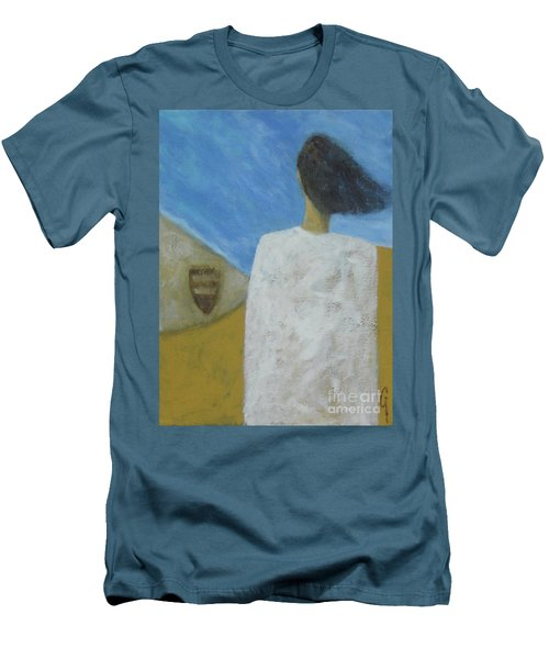 Men's T-Shirt (Slim Fit) featuring the painting Lifeboat by Glenn Quist