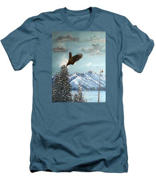 Lift Off Men's T-Shirt (Slim Fit) by Al  Johannessen
