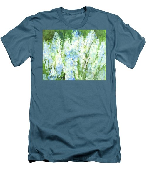 Light Blue Grape Hyacinth. Men's T-Shirt (Slim Fit) by Laurie Rohner