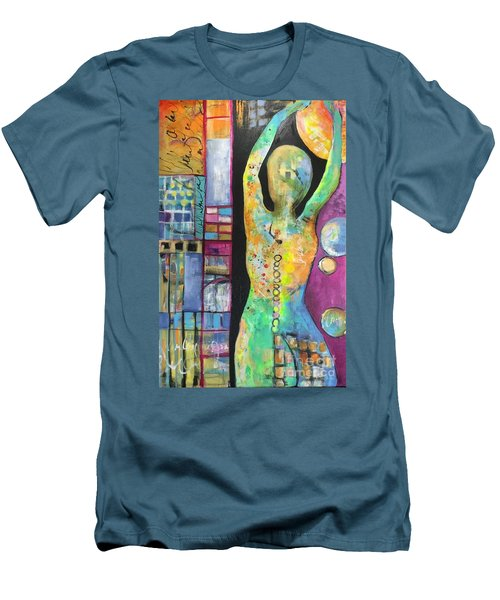 Light Energy Men's T-Shirt (Slim Fit) by Karin Husty