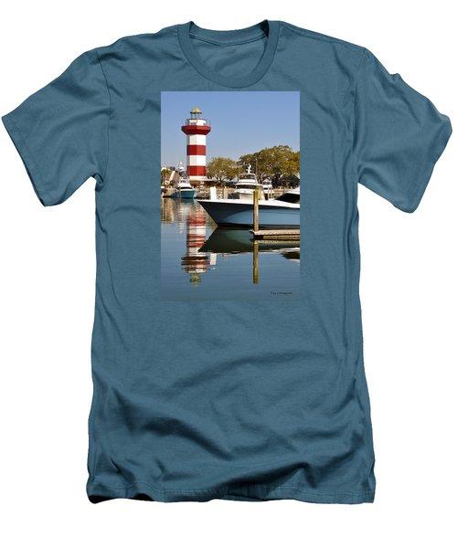 Light In The Harbor Men's T-Shirt (Slim Fit) by Kay Lovingood