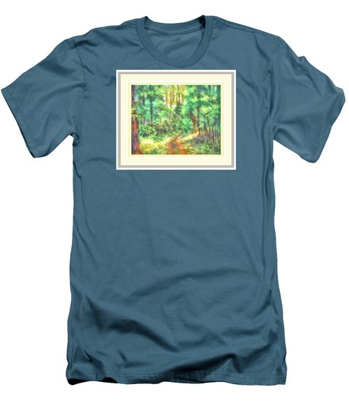 Men's T-Shirt (Slim Fit) featuring the photograph Light On The Path by Shirley Moravec