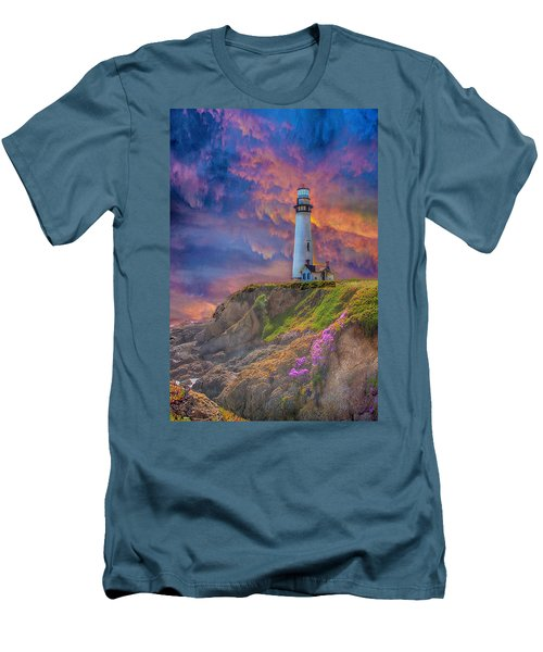 Lighthouse At Pigeon Point Men's T-Shirt (Athletic Fit)