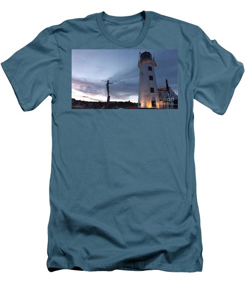 Lighthouse Lady 2 Men's T-Shirt (Athletic Fit)