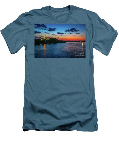 Lighthouse Light Beam Men's T-Shirt (Slim Fit) by Tom Claud