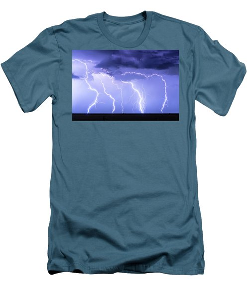 Lightning On The Plains Men's T-Shirt (Athletic Fit)